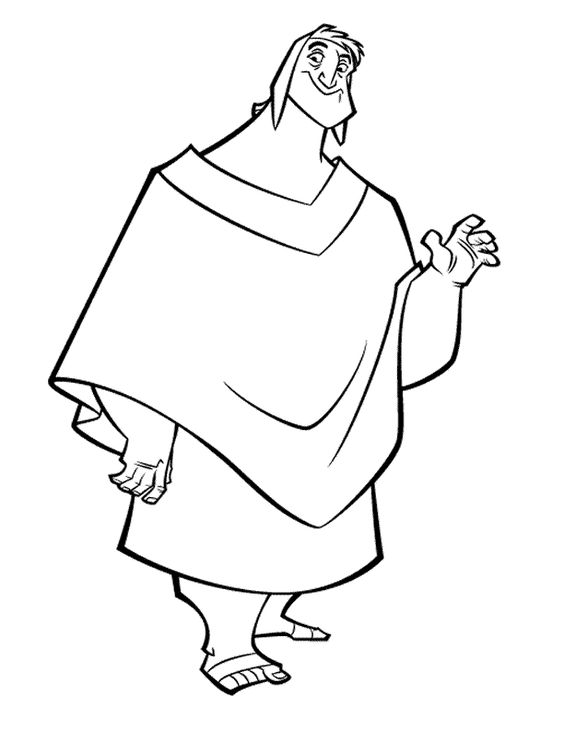 564x729 The Emperors New Groove Coloring Page Coloring Pages Of Epicness