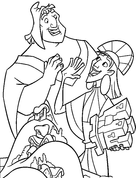 567x741 Disney Coloring Pictures For Kids Emperor's New Groove Coloring Pages
