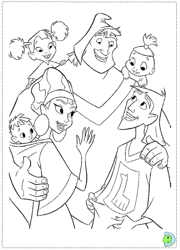 691x960 Emperor's New Groove Coloring Pages