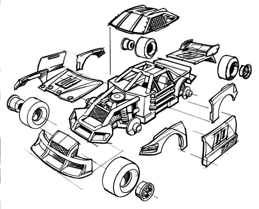 Kyle Busch Coloring Pages