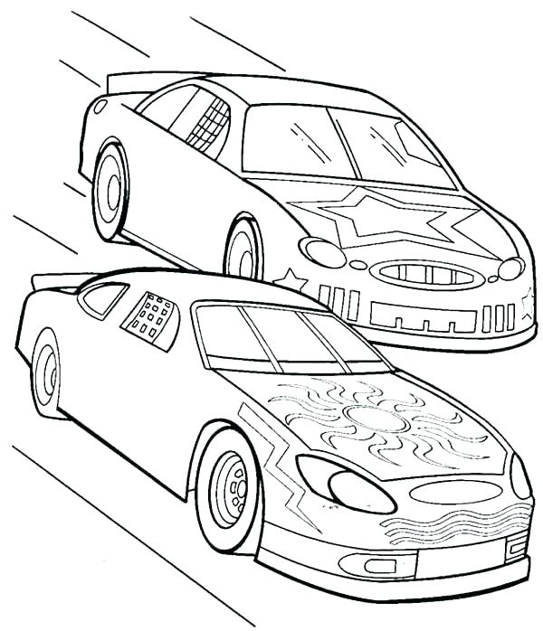 600x698 Nascar Coloring Page Coloring Pages Of Race Cars Race Car Coloring