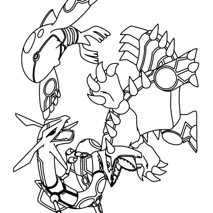 Kyogre Coloring Page