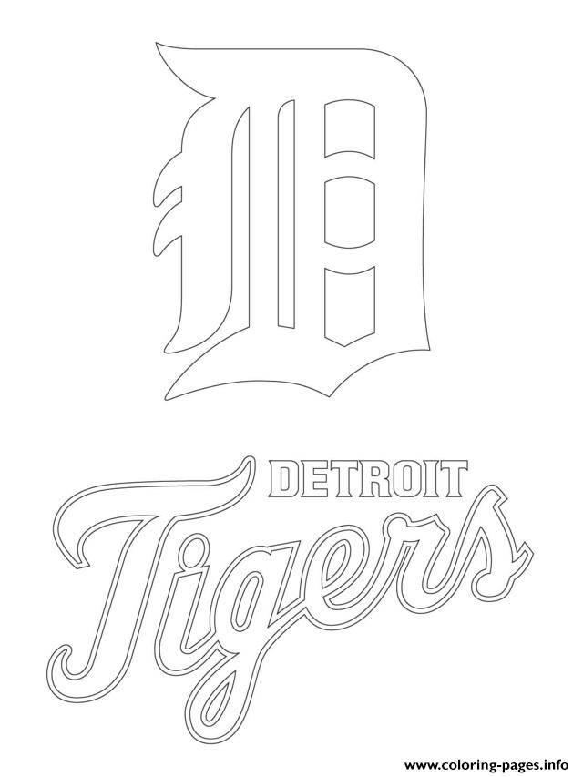 640x853 Detroit Tigers Logo Mlb Baseball Sport Coloring Pages Printable