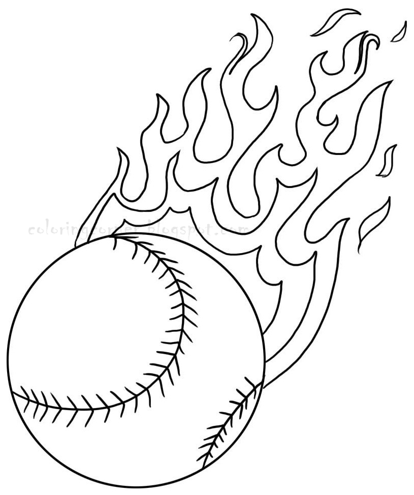 815x974 Free Baseball Coloring Pages In Page