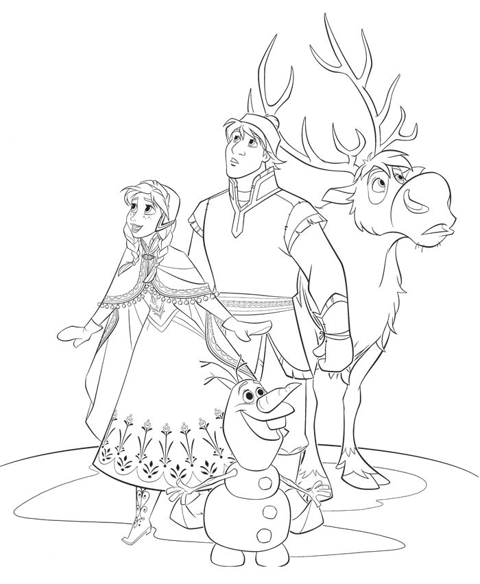 700x852 Best Frozen Coloring Pages Images On Coloring Books