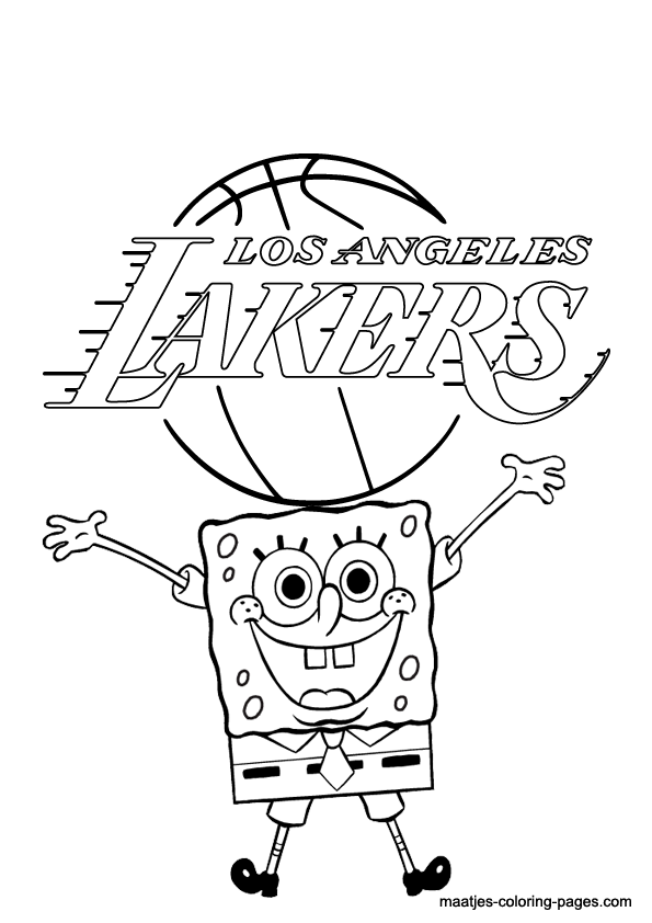 595x842 Lakers Coloring Page