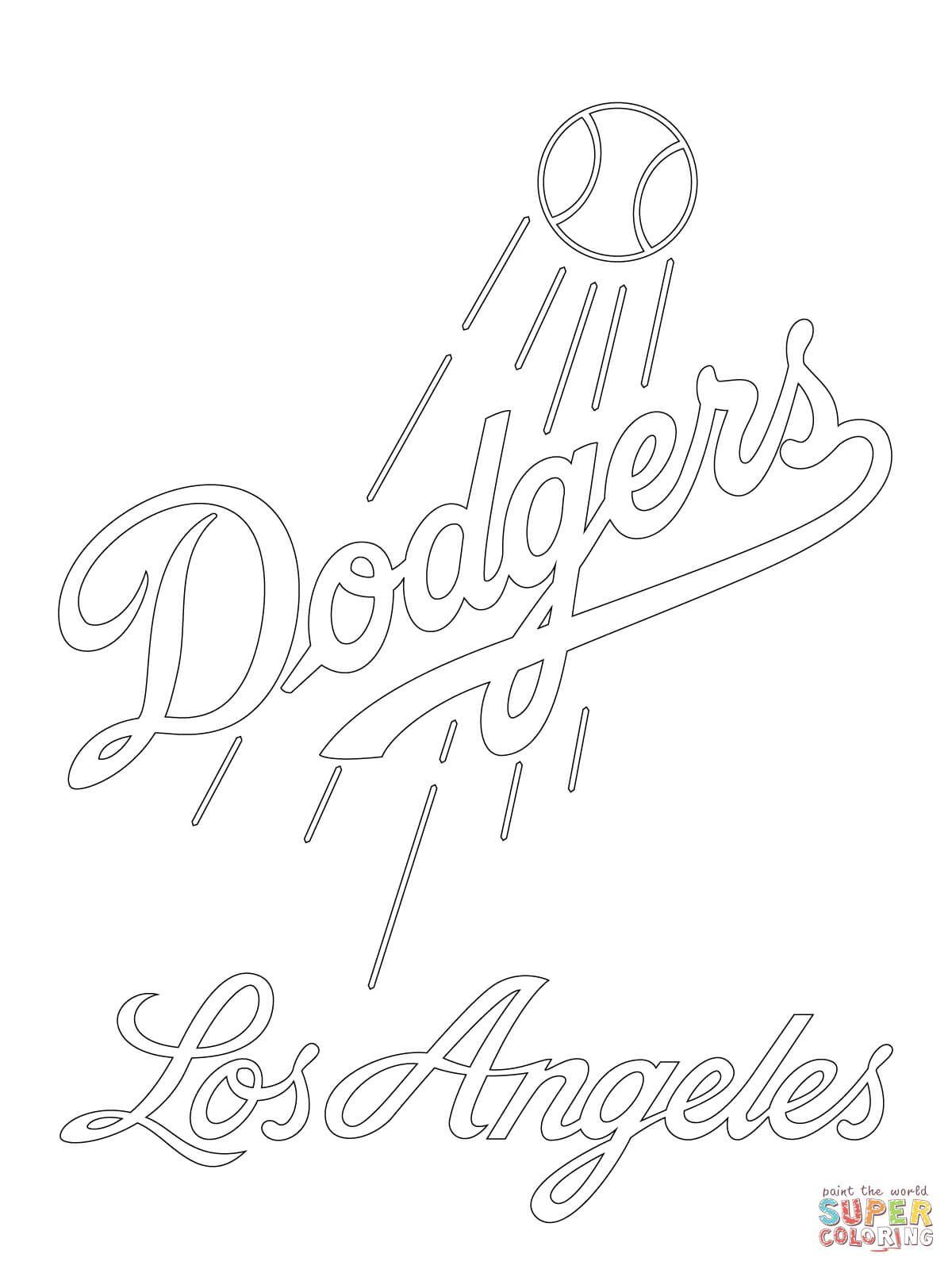 1200x1600 Los Angeles Dodgers Logo Super Coloring Party Ideas