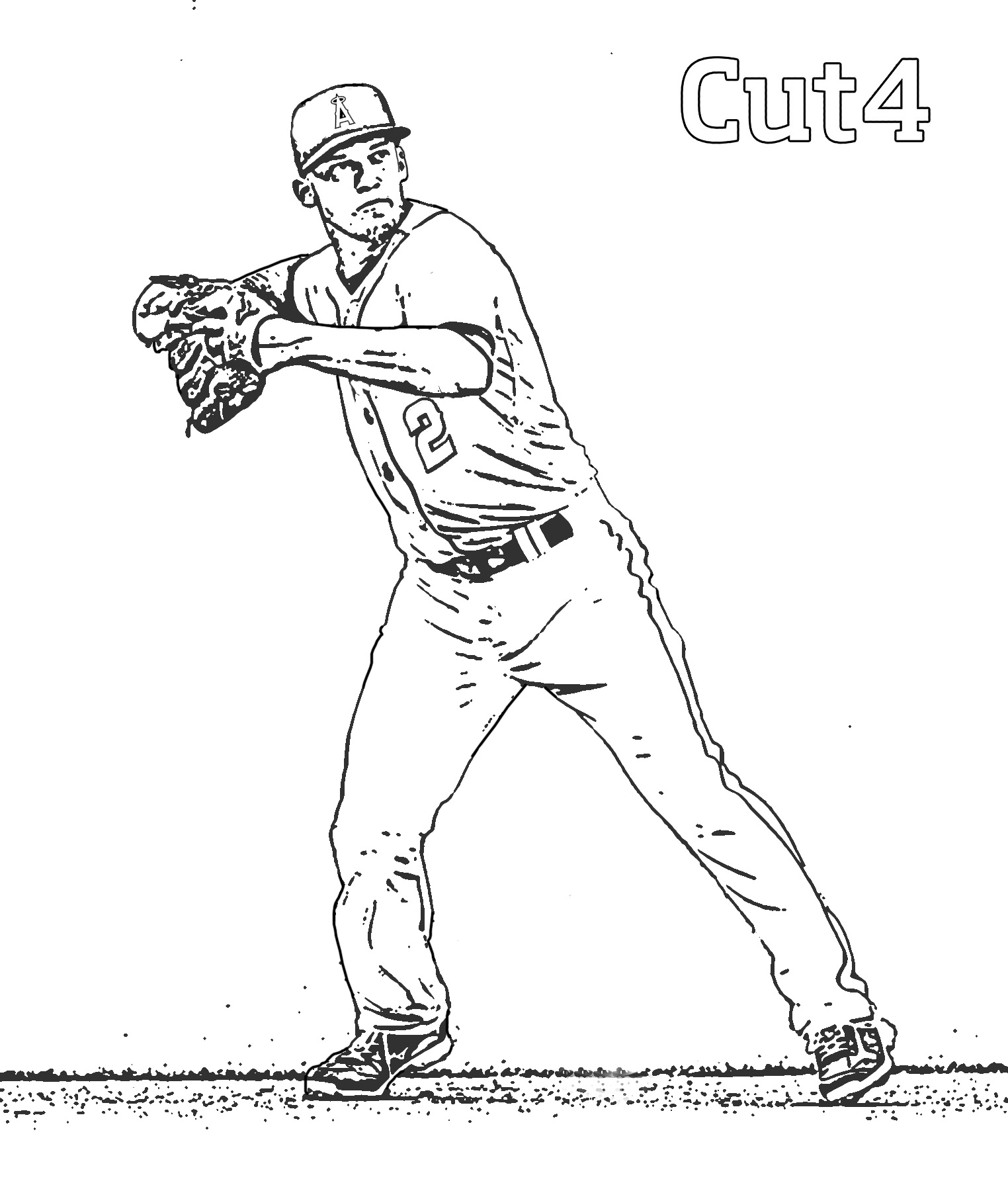 La Dodgers Coloring Pages At Getdrawings Com Free For Personal Use