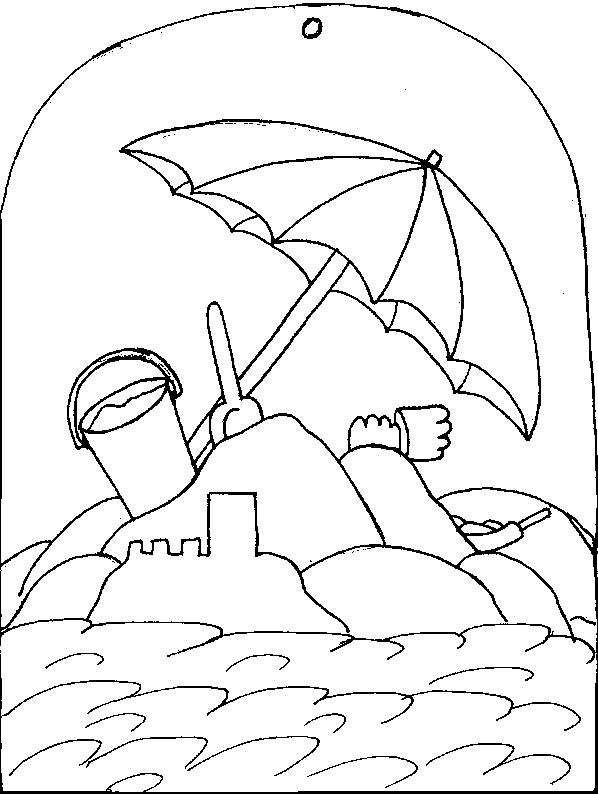 598x794 Seaside Coloring Page