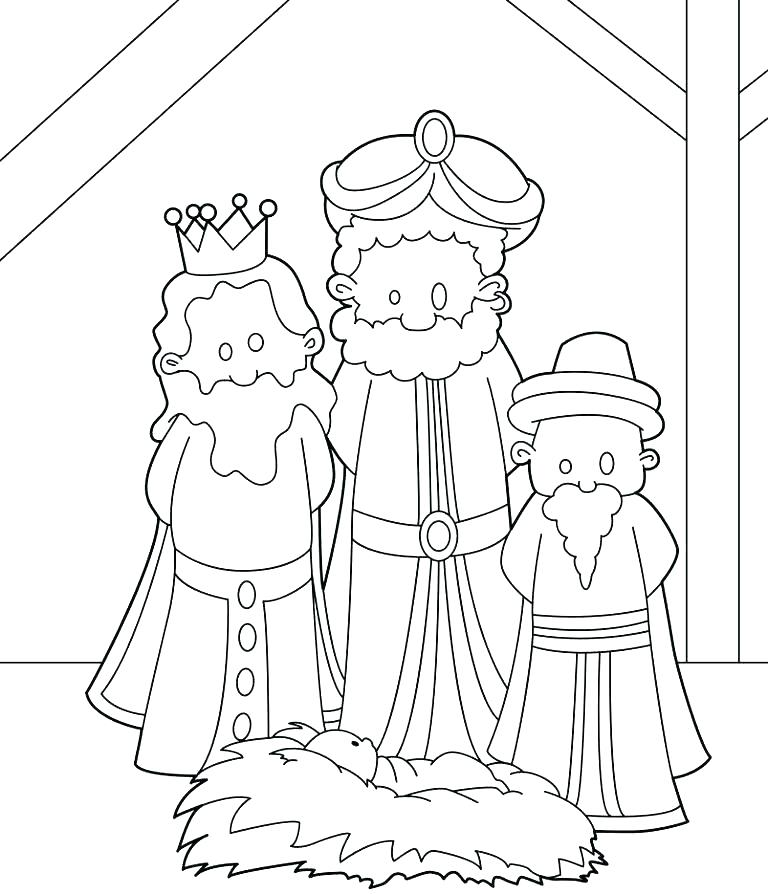 768x894 La Kings Coloring Pages Three Wise Men Coloring Page Three Wise