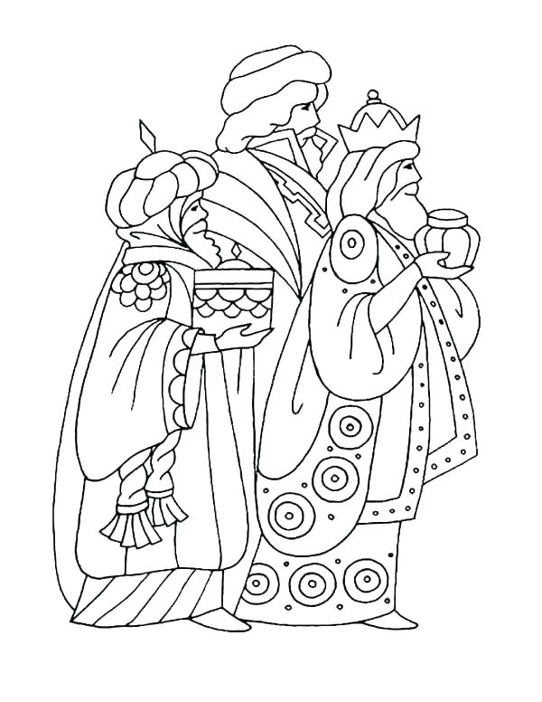 600x776 Three Wise Kings Coloring Pages Donkey Page Men Feast