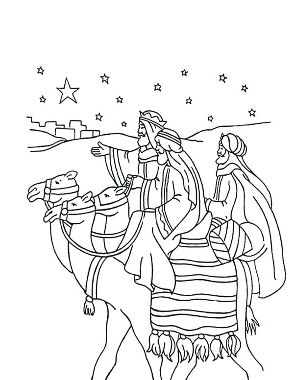 600x776 Three Wise Men Coloring Pages