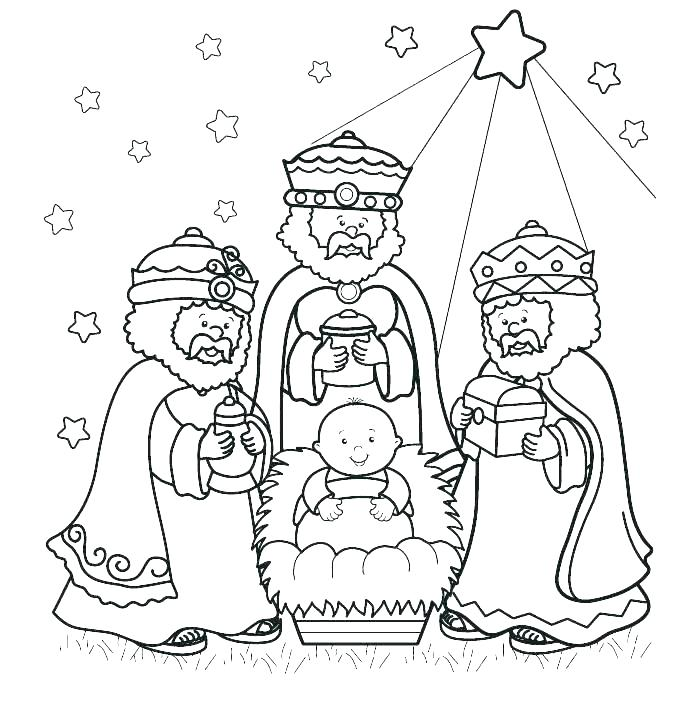 699x716 Wise Men Coloring Page Wise Coloring Squared