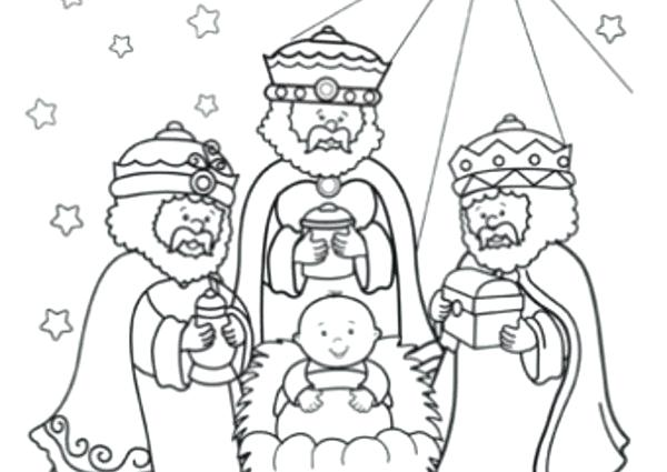 600x425 Three Wise Men Coloring Pages Vanda