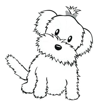 400x430 Dog Color Pages Printable Cute Dog Coloring Pages For Preschool