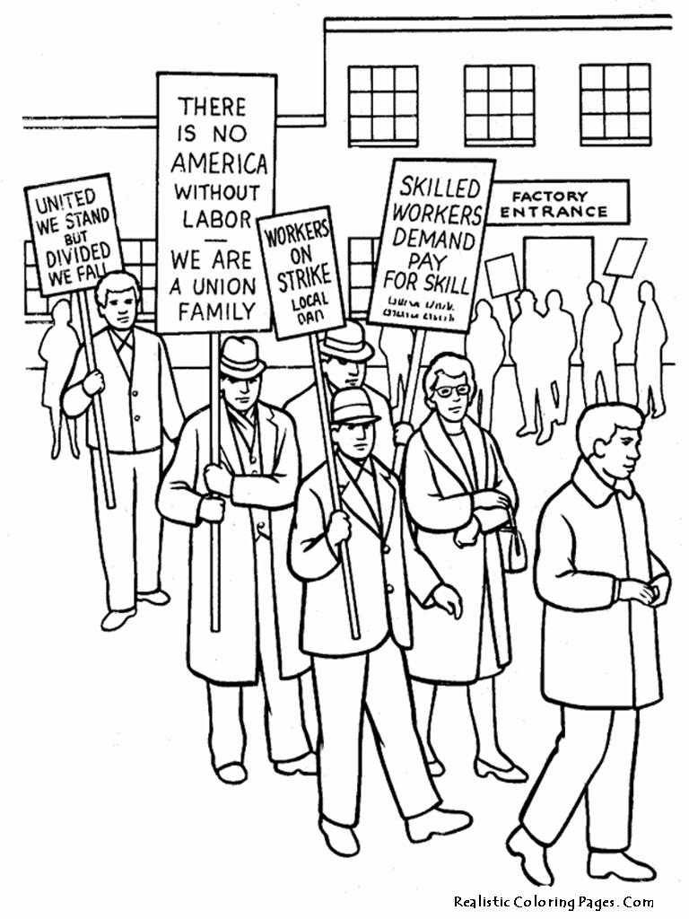 768x1024 Happy Celebrations Labor Day Coloring Pages