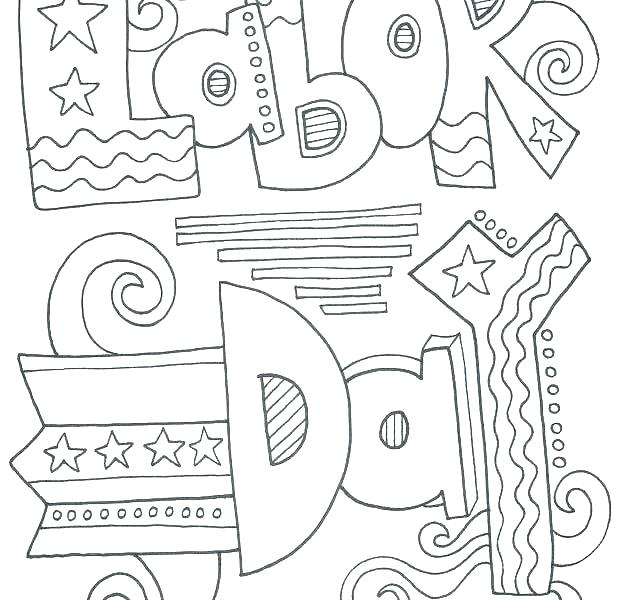 618x600 Labor Day Coloring Pages Free Printable Labor Day Coloring Sheets