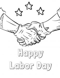 232x300 Labor Day Coloring Pages Free Printable Vintage Labor Day Coloring
