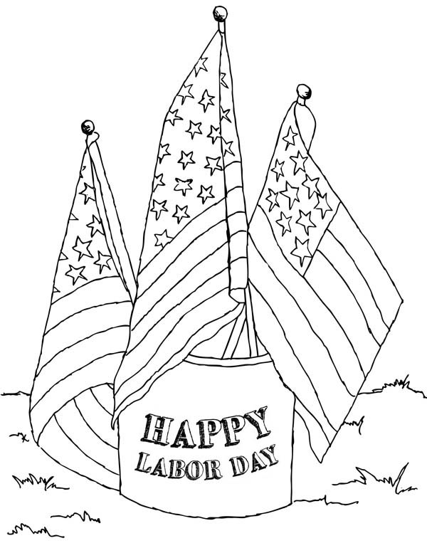 600x777 Best Labor Day Coloring Pages Free Printable