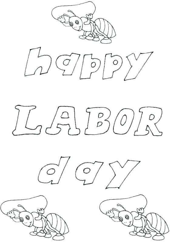 600x794 Labor Day Coloring Page Labor Day Coloring Page For Kindergarten