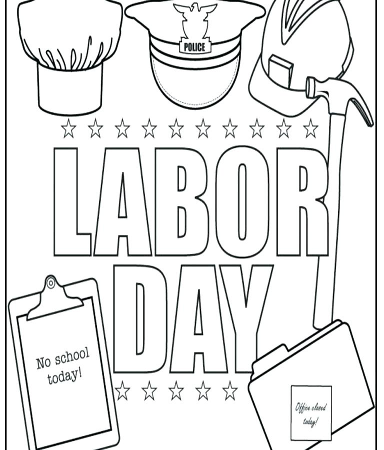 768x900 Labor Day Coloring Page Labor Day Coloring Sheets Labor Day