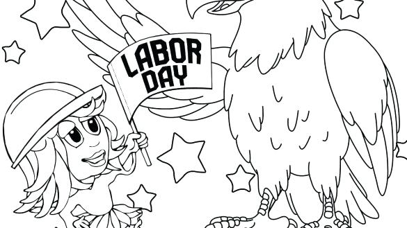 585x329 Labor Day Coloring Pages Free Printable Happy Fathers Ties Page