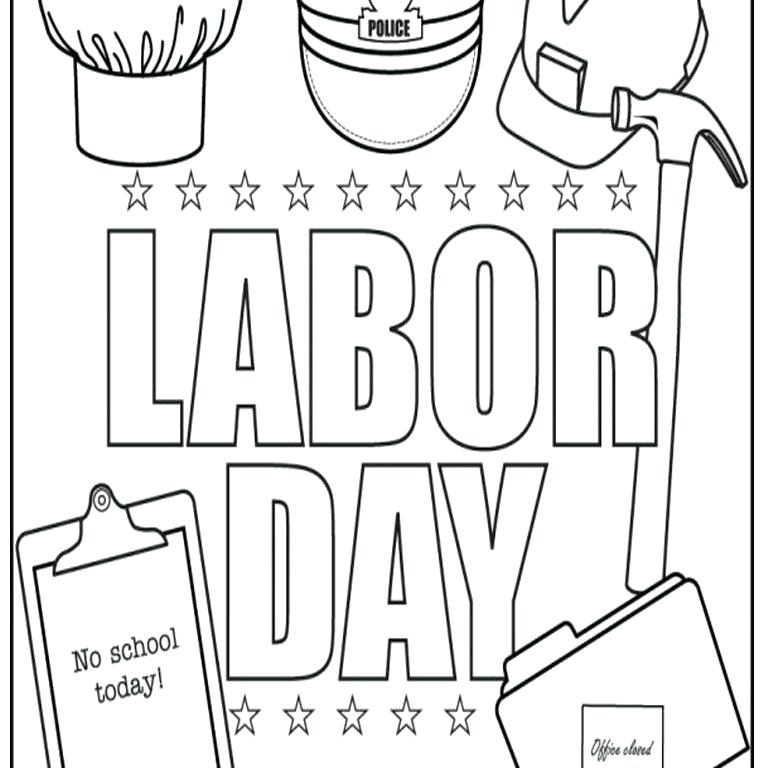 768x768 Labor Day Coloring Pages Free Printable Labor Day Coloring Page