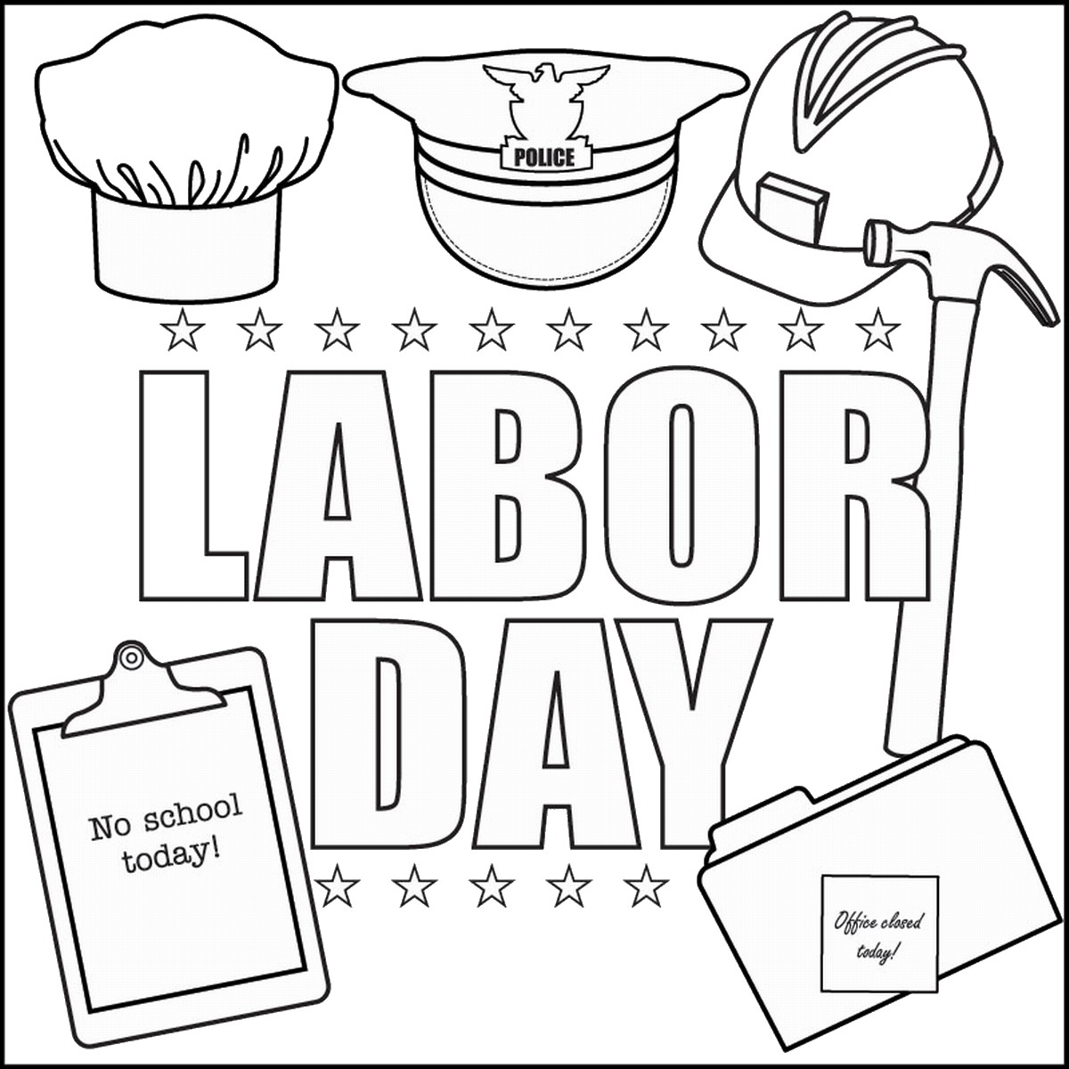 1200x1200 Labor Day Coloring Pages
