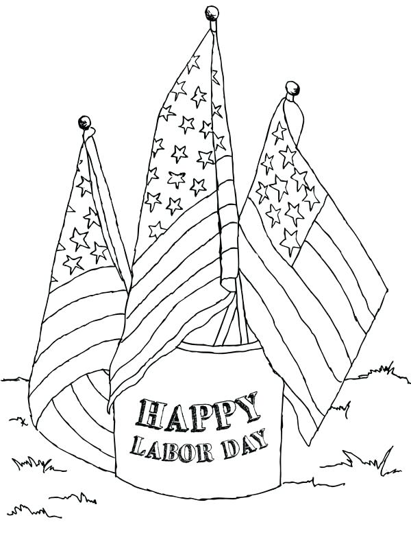 600x777 Labor Day Coloring Sheets Labor Day Coloring Page Labor Day