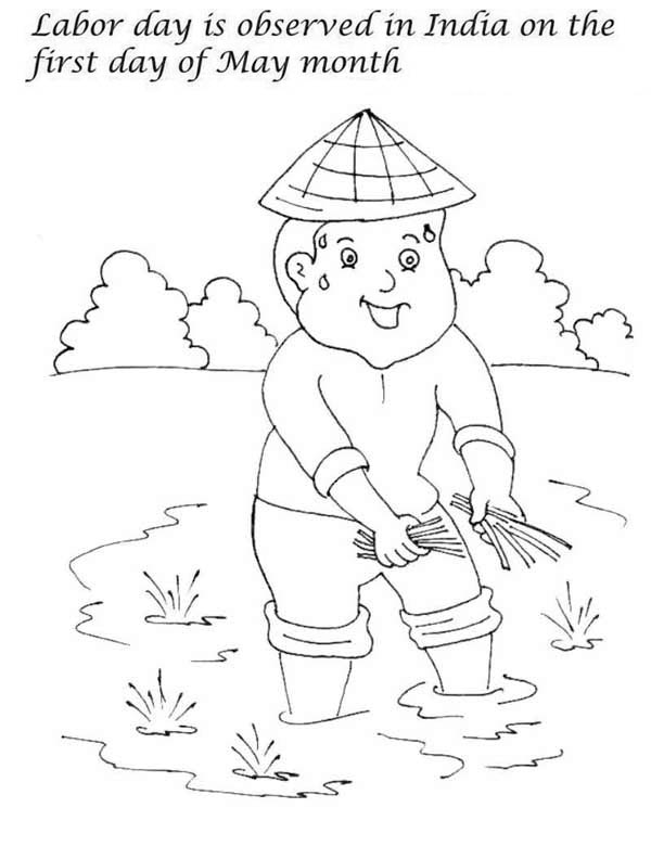 600x792 First Day Of May Month Is Labor Day In India Coloring Page Color