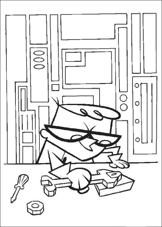 567x794 Dexter's Laboratory Coloring Pages Coloring Pages For Kids