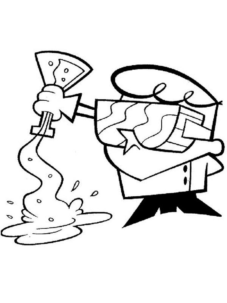 750x1000 Dexter's Laboratory Coloring Pages Download And Print Dexter