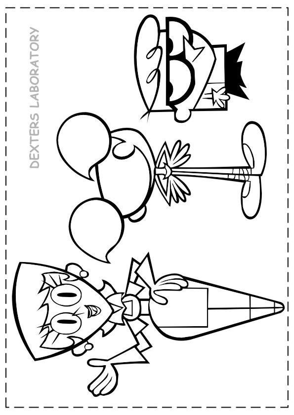 595x841 Dexter Laboratory Coloring Page