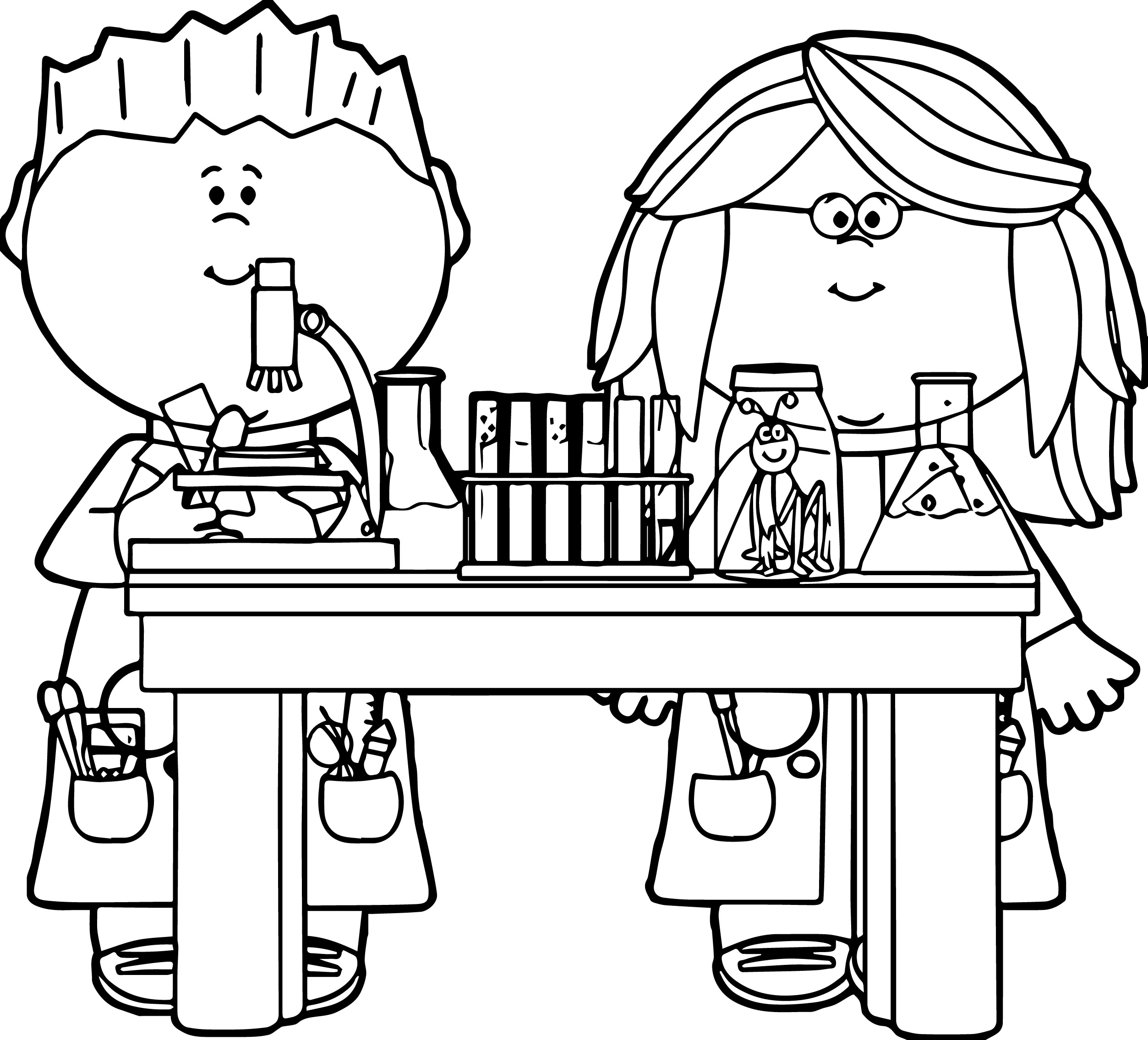 2506x2271 Chemistry Coloring Pages Free Murderthestout Science And Set Black