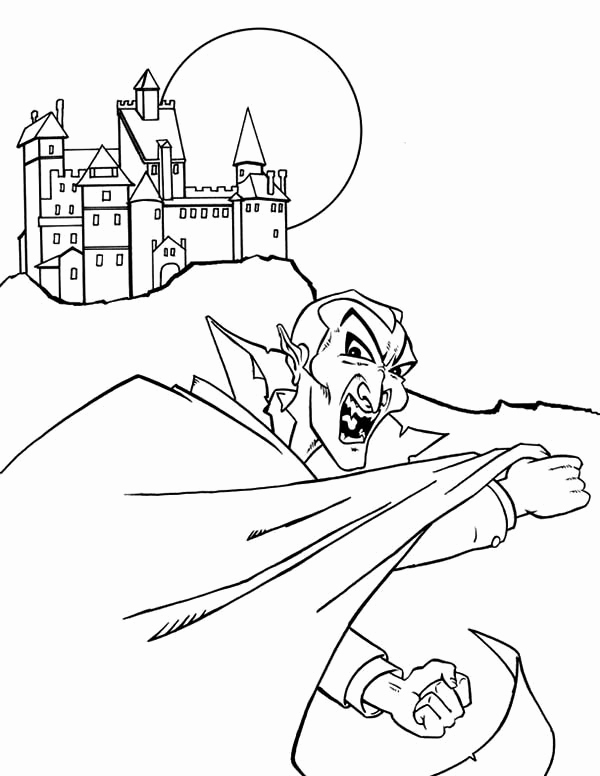 600x776 Vampire Castle Coloring Page Dexters Laboratory Coloring Pages