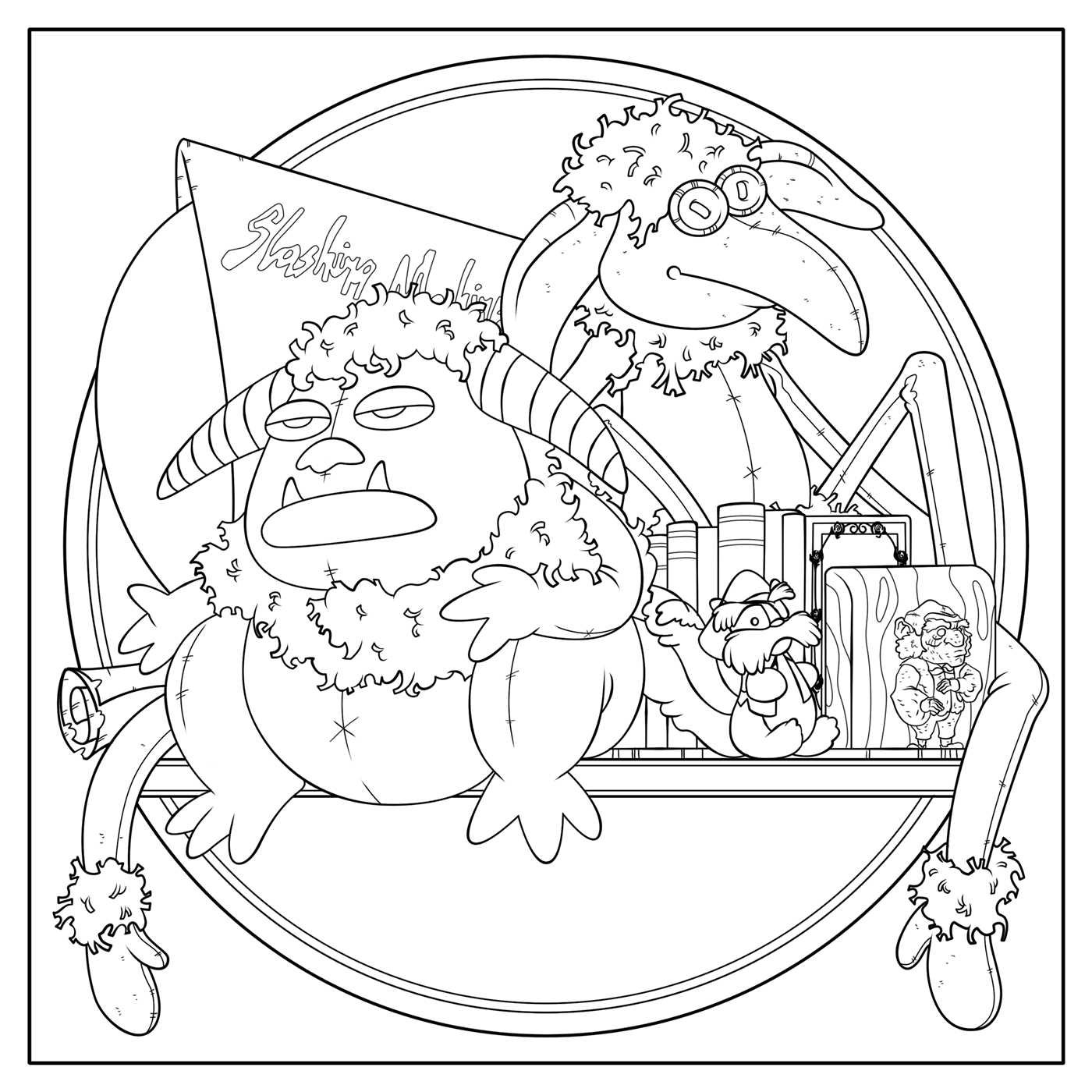 Labyrinth Coloring Pages