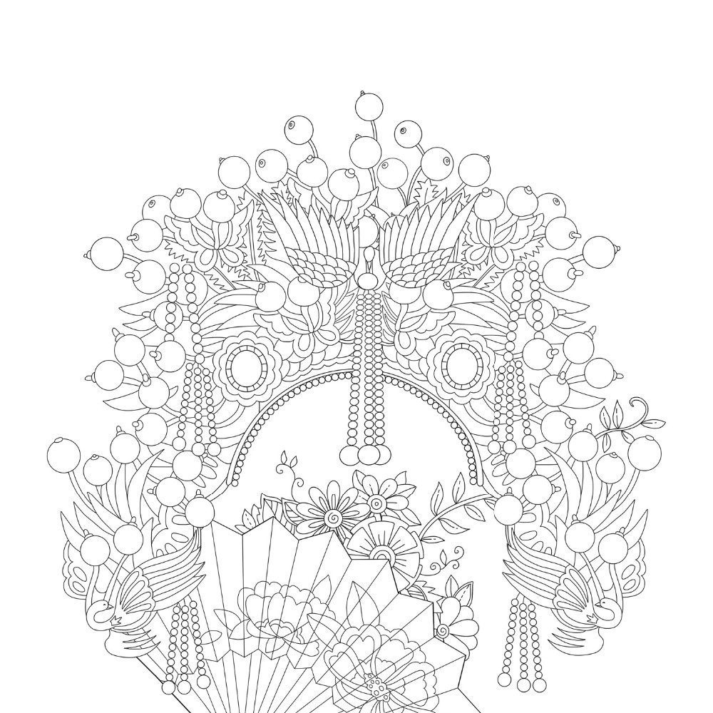 1000x1000 Newest Arrivals Pages Floating Lace Adults Colouring Book
