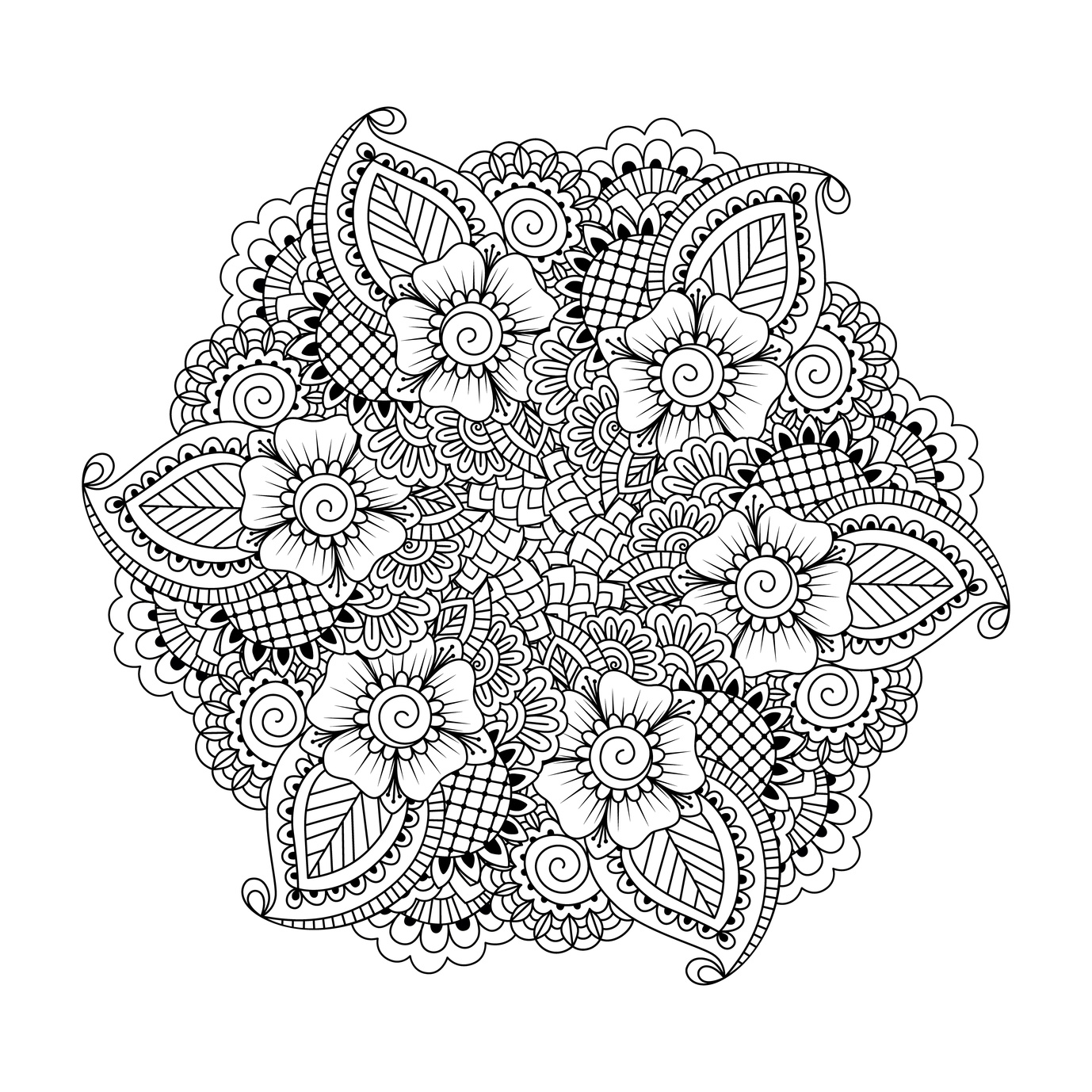1378x1378 These Printable Abstract Coloring Pages Relieve Stress And Help