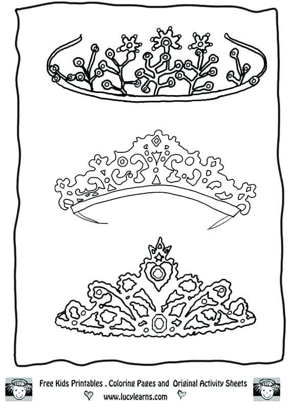 569x800 Tiara Coloring Page Crown Coloring Tiara Coloring Page Vector