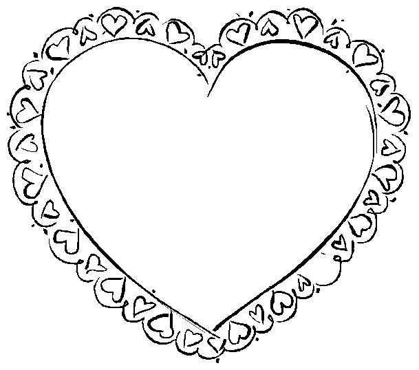 609x538 Valentine's Coloring Pages
