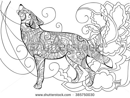 450x341 Wolf Animal Coloring With A Wolf Wolf Coloring Coloring Book