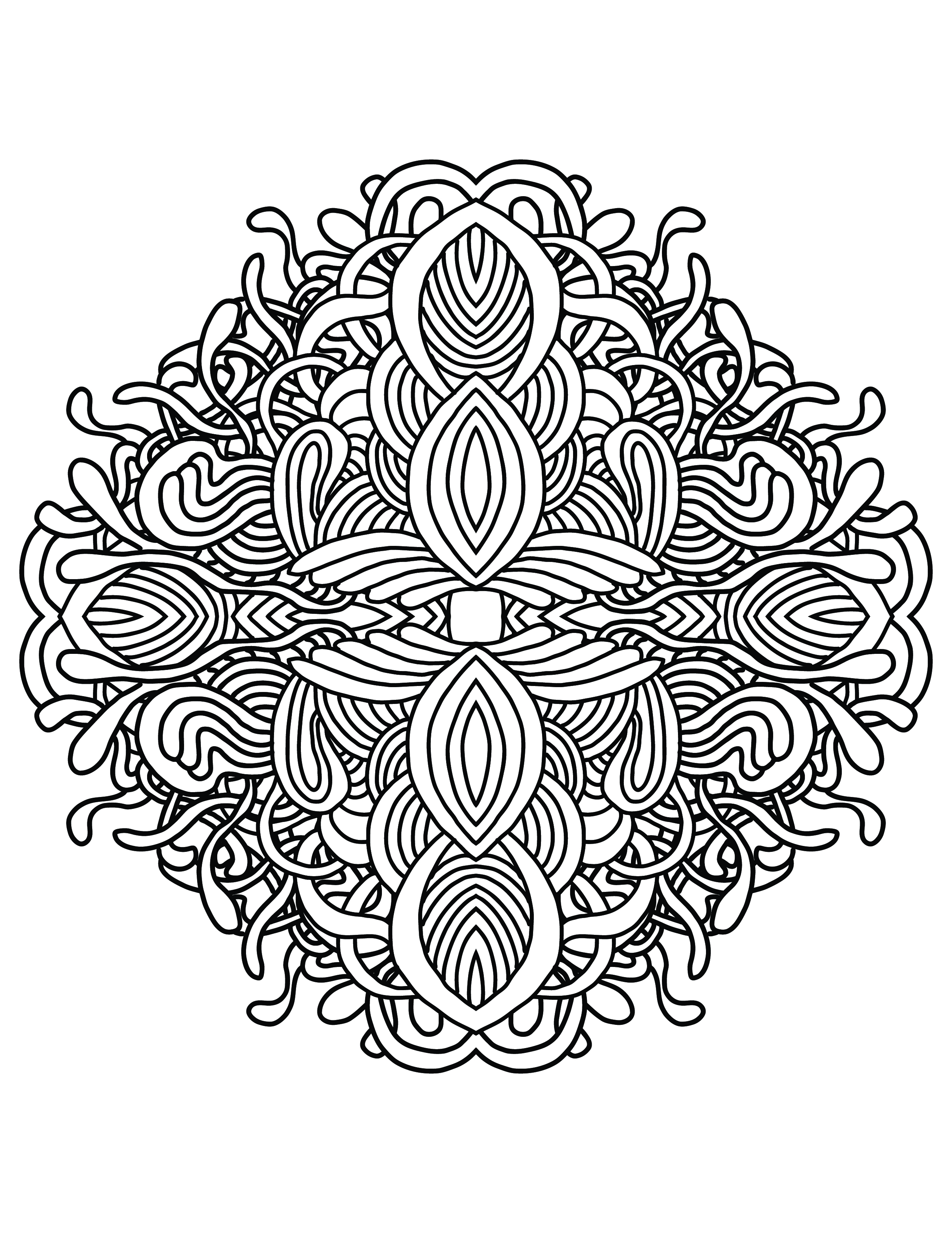 2550x3300 Mandala Lace, Adult Coloring Page Archives