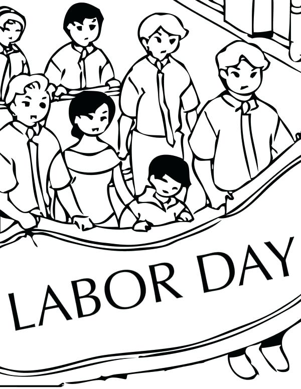 600x776 Labor Day Color Labor Day Coloring Pages Labor Day Coloring Pages