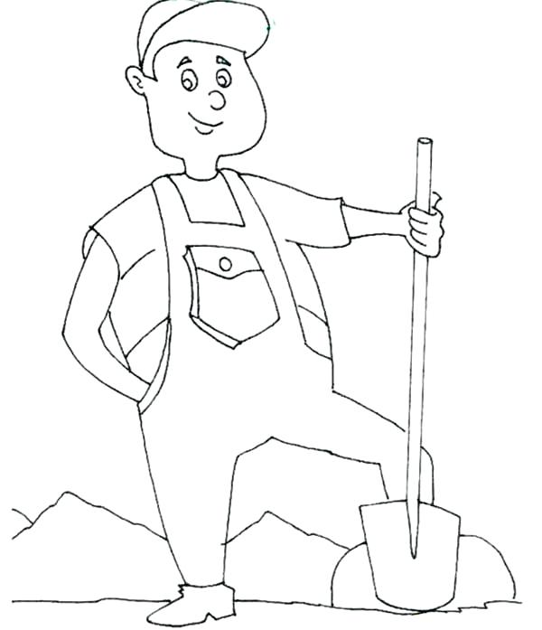 600x697 Proud Farmer Labor Day Coloring Page Color Proud Farmer
