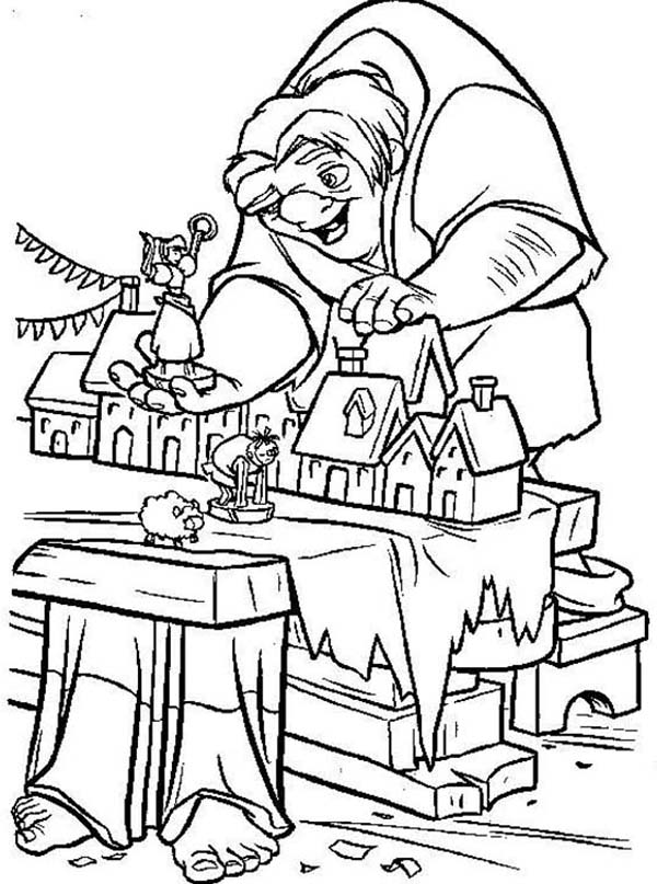 600x807 Quasimodo Playing Doll House In The Hunchback Of Notre Dame