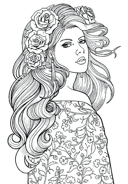 421x604 Woman Coloring Pages Woman Coloring Page Lovely Lady Colouring