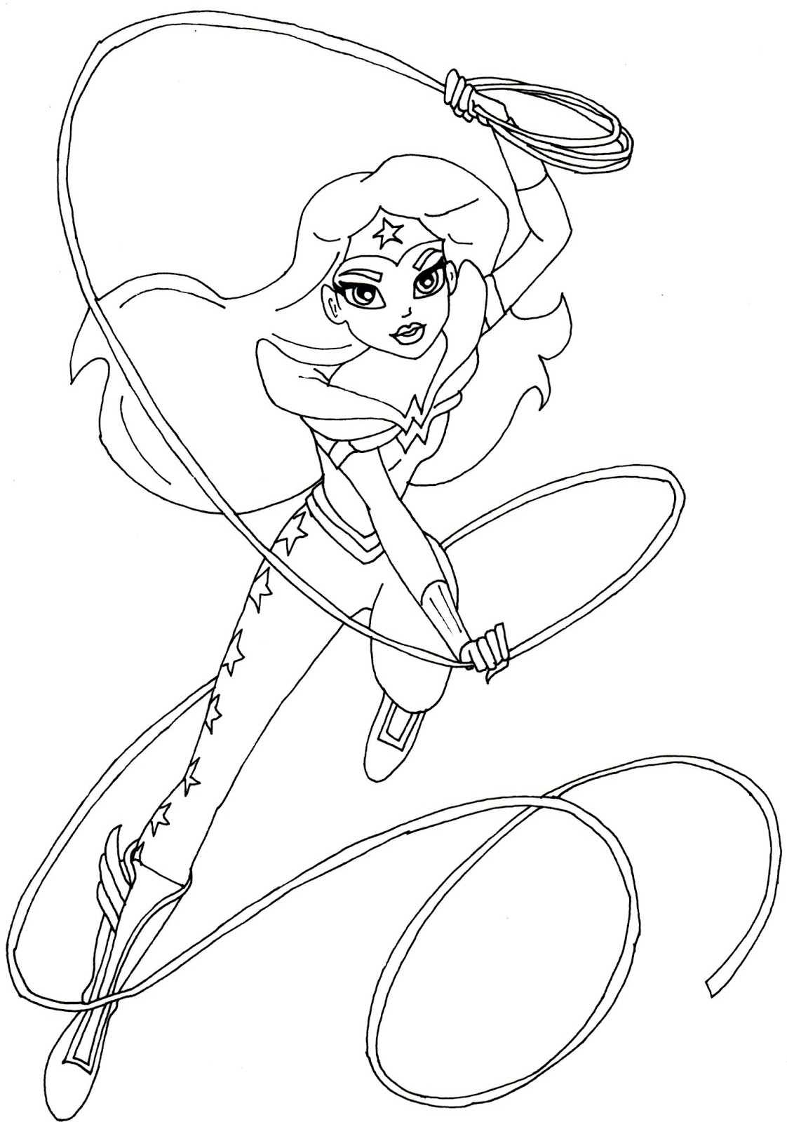 1122x1600 Wonder Woman Coloring Page