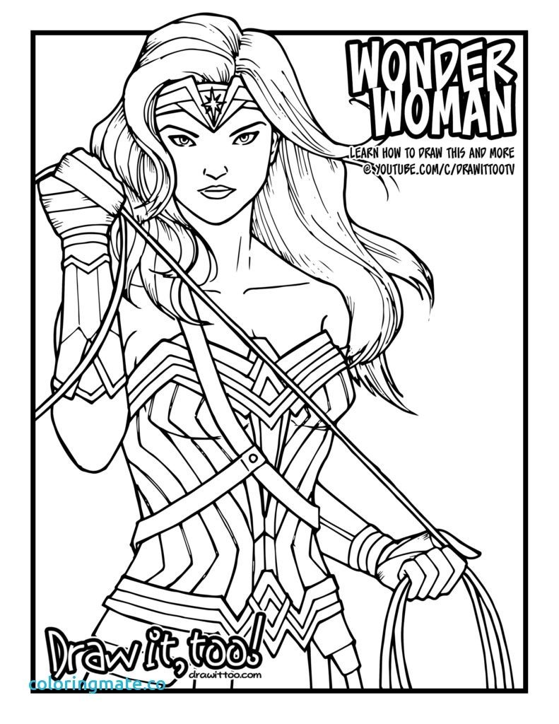 791x1024 Wonder Woman Coloring Pages New Gal Gadot Of Coloriafes Disney