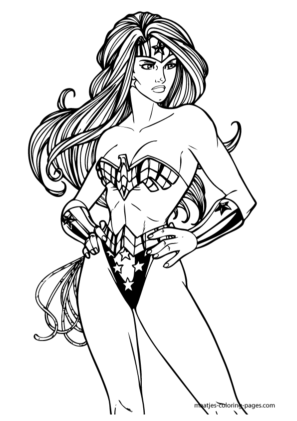 595x842 Wonder Woman Coloring Wonder Woman Coloring Pages Fonts