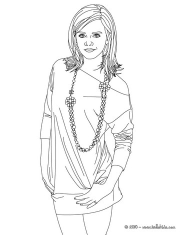 364x470 Emma Watson Young Lady Coloring Pages